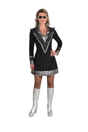 Kleid schwarz-silber Rock / Space – Bild 1