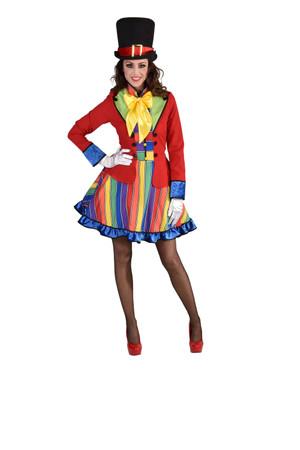 Clown-Kleid Streifen / Karo – Bild 1