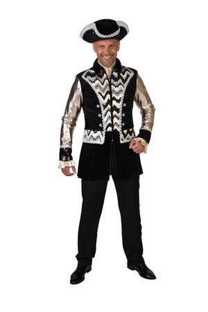 Mantel schwarz-silber