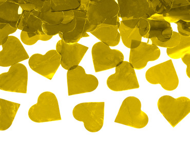 Konfetti-Shooter Herzen gold – Bild 2