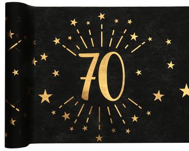 Tischläufer Vlies 70 schwarz-gold