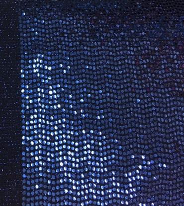 Paillettenstoff Ginger schwarz-blau – Bild 1