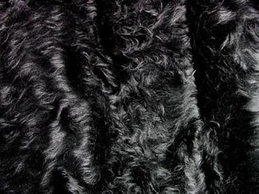 Pluesch Langhaar schwarz 150cm – Bild 2