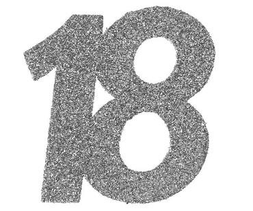 6 Glitter-Konfetti 18 silber – Bild 1