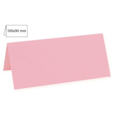 5 Tischkarten rosé