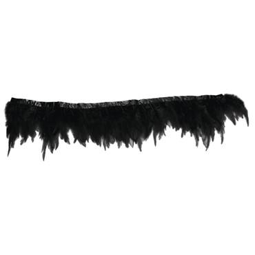 Federbordüre schwarz 50 cm – Bild 1