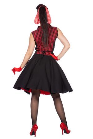 """Rockabilly """"Rizzo"""" Rock mit Bluse schwarz-rot 50er Jahre – Bild 5"""