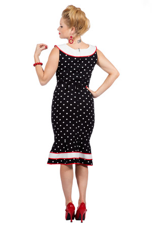 Rockabilly Kleid Betty Punkte 50er Jahre – Bild 3