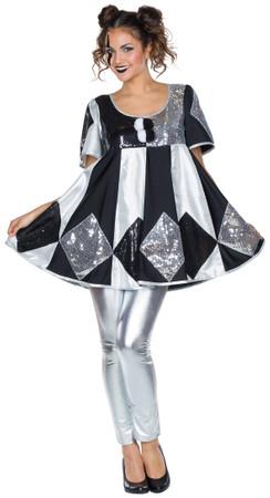 Pierrot Kleid Shiny – Bild 1