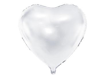 Folienballon Herz 61 cm weiß