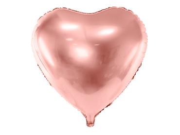Folienballon Herz 61cm rosegold