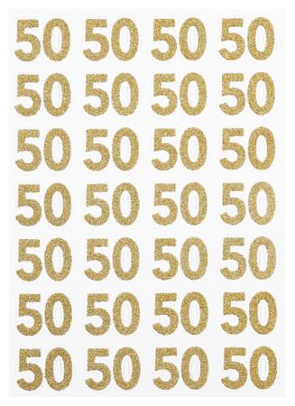 Sticker Zahl gold 50