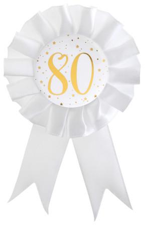 Anstecker / Rosette 80. Geburtstag – Bild 1