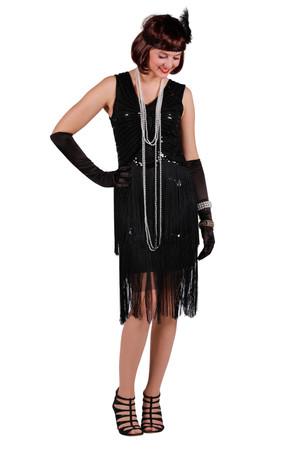 Charleston-Kleid Fox schwarz – Bild 1