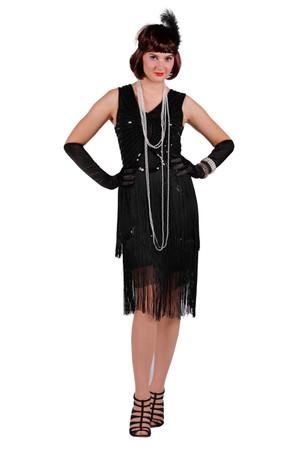 Charleston-Kleid Fox schwarz – Bild 2