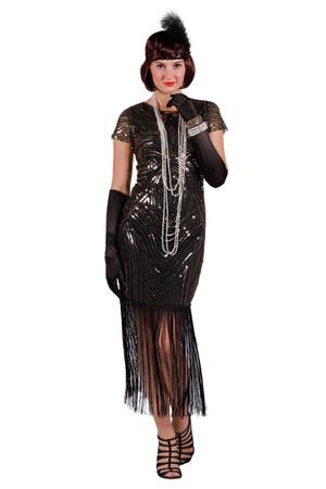 Charleston Kleid Ruby schwarz-hellgold – Bild 1
