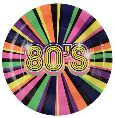 10 Papp-Teller 80's 80er-Jahre
