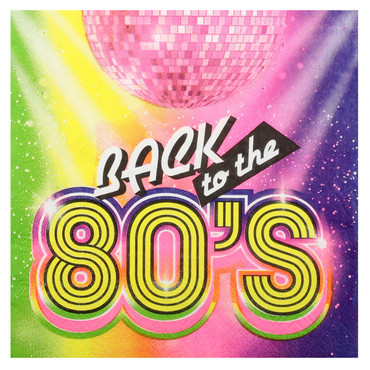 20 Zelltuch-Servietten 80's 80er-Jahre