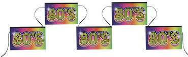 Wimpelkette 80's 80er Jahre