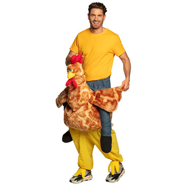Huckepack-Kostüm Lustiges Huhn – Bild 1