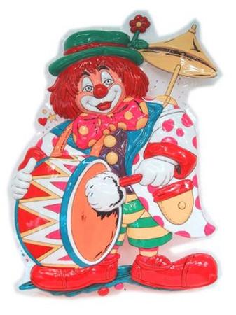 Wanddeko Clown mit Trommel