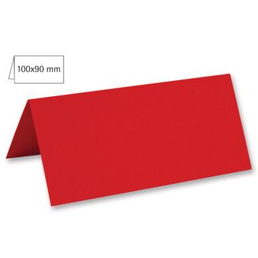 5 Tischkarten kardinalrot