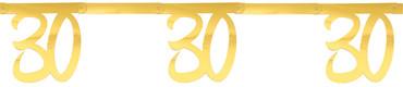 Girlande '30' gold – Bild 1