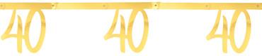 Girlande '40' gold – Bild 1