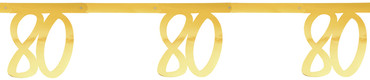 Girlande '80' gold – Bild 1