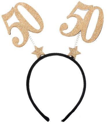 Haarreif Geburtstag '50' – Bild 1