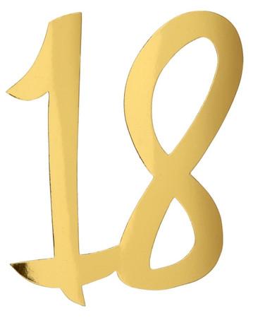 4 Deko-Zahlen '18' gold – Bild 1
