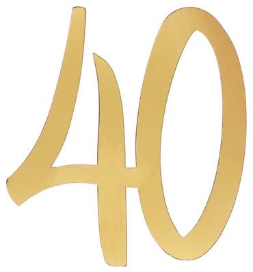 4 Deko-Zahlen '40' gold – Bild 1