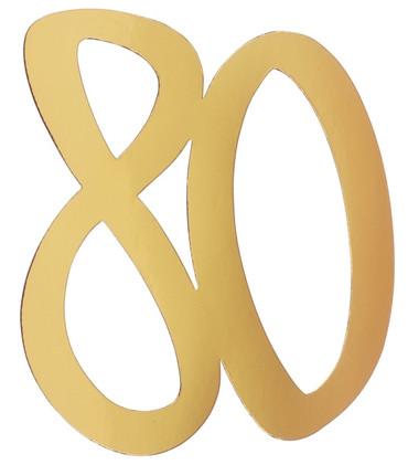 4 Deko-Zahlen '80' gold – Bild 1