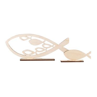 2 Holz-Aufsteller Fische