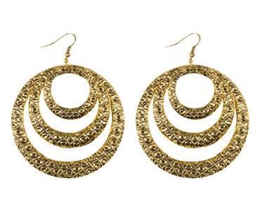 Ohrhänger Creolen Gypsy gold – Bild 1