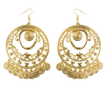 Ohrhänger Münzen gold – Bild 1