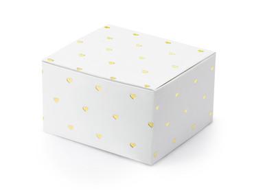 10 Geschenkboxen Herzen gold – Bild 1