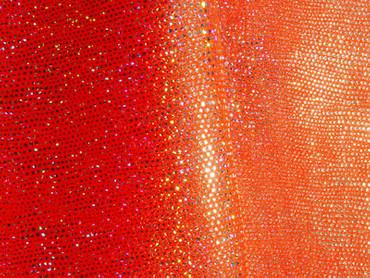 Jersey-Stretch mit Holo-Punkten orange