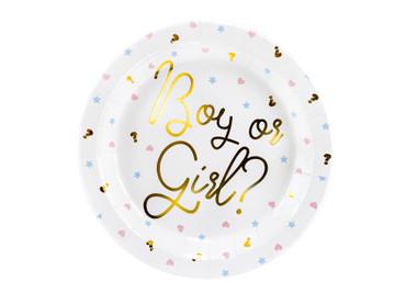 6 Papp-Teller Boy or Girl Baby Party Baby Shower – Bild 1