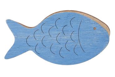 Deko-Fisch mit Klammer blau