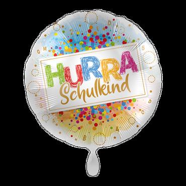 Folienballon Hurra Schulkind – Bild 1