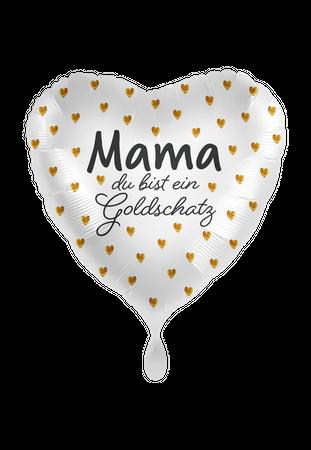 Folienballon Mama Du bist ein Goldschatz