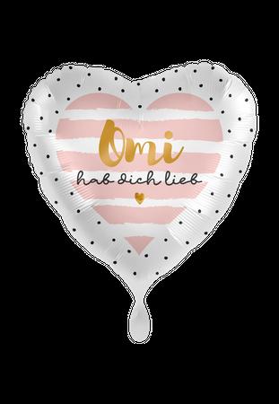Folienballon Omi hab Dich lieb