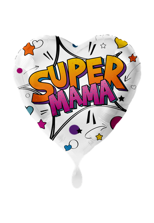 Folienballon Super Mama XXL