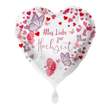 Folienballon Alles Liebe zur Hochzeit Herz