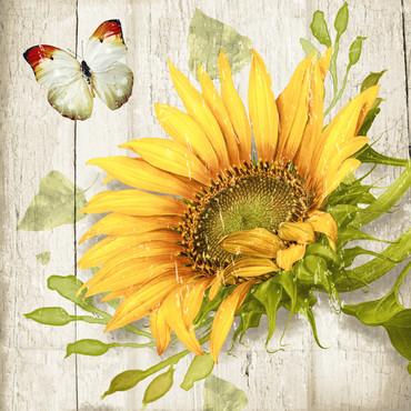 20 Servietten Vintage Sunflower