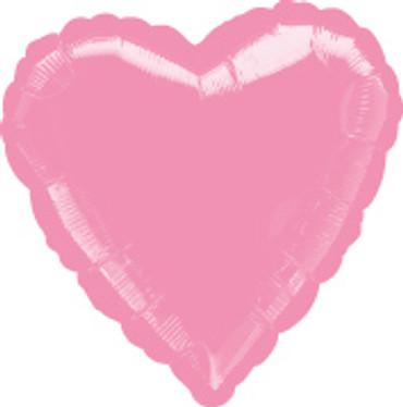 Folienballon Herz Metallic pink 45cm
