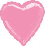 Folienballon Herz Metallic pink 45cm 001