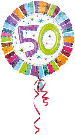 Folienballon Radiant Birthday 50