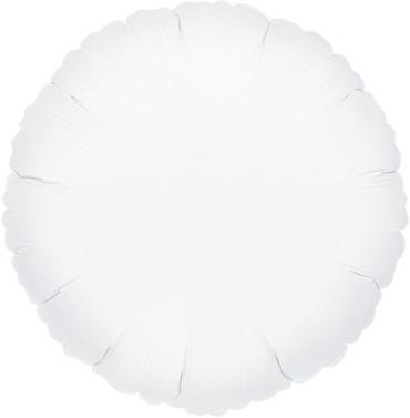 Folienballon rund weiß 45cm